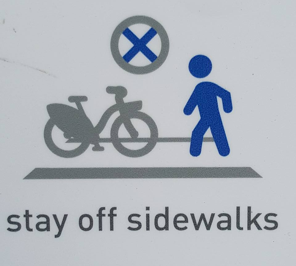 Stay off sidewalks